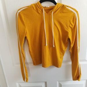 💙 Heart & Hips Yellow Crop Athletic Hoodie L